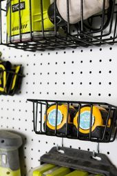 Photo of Creative Workshop Organization  How to organize tools with pegboard    This imag…