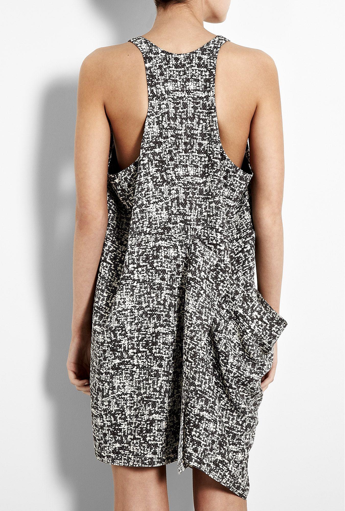 Black and white loose dress blackuwhite pinterest funky