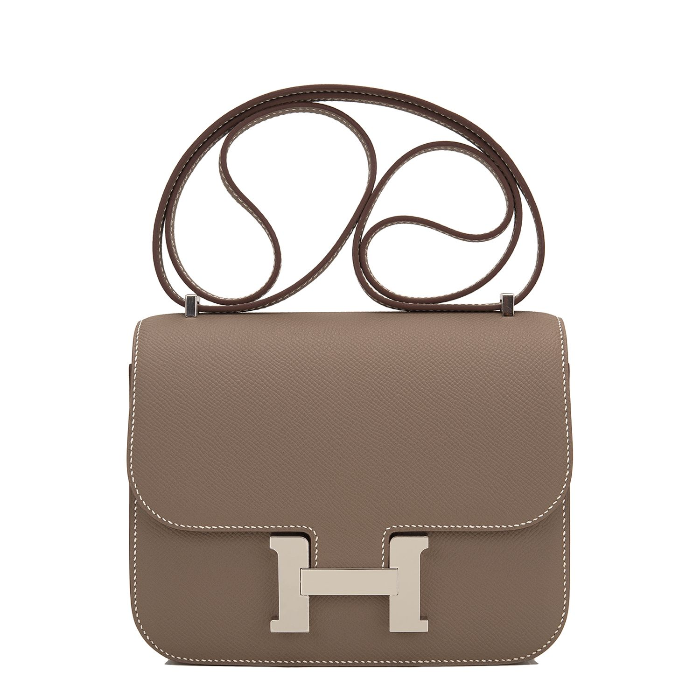 Hermes Mini Constance Bag Etoupe Epsom Palladium Hardware
