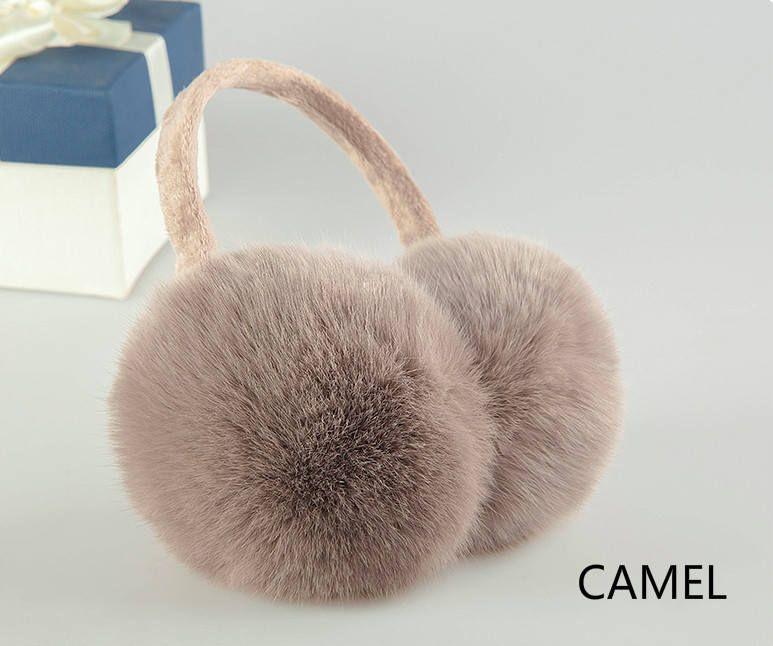 Rabbit fur burgundi Ear Warmers Fluffy ear muffs Earmuffs women Christmas gift Real fur earmuffs Gift for her.