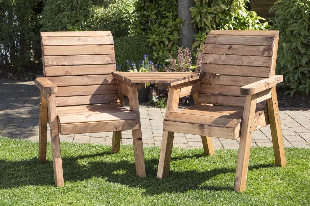 Groovy Details About Heavy Duty Wooden Garden Love Seat Bench With Machost Co Dining Chair Design Ideas Machostcouk