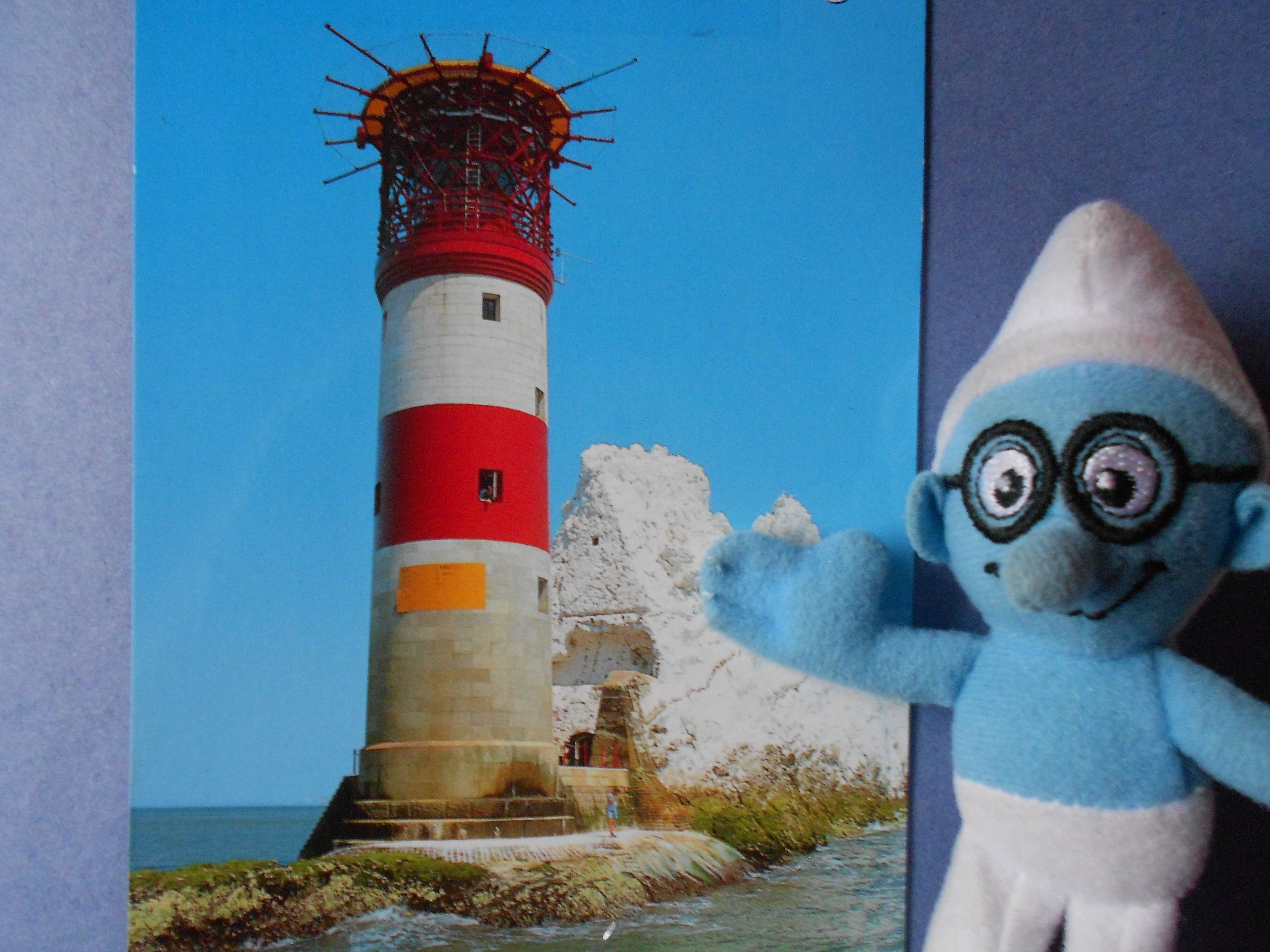 This is the lighthouse that is on the end of the Needles, I went out on a boat trip to see this up close, abit of a bumpy sea trip,but fun, and no sick bag required.....  result...