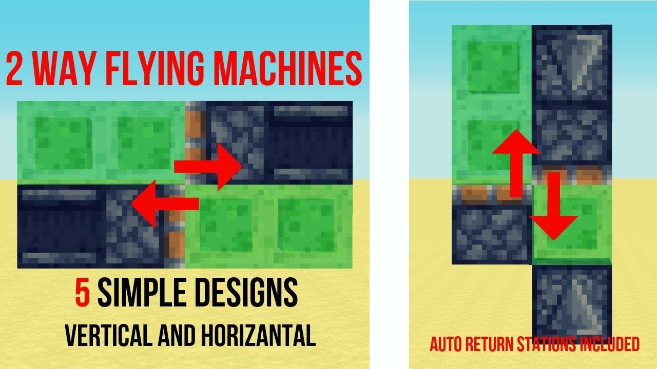 How To Make Pixel Art In Minecraft Bedrock 5 Simple 2 Way Flying Machine Engine Designs Slimestone Minecraft Minecraft Redstone Creations Minecraft Minecraft Redstone Tutorial