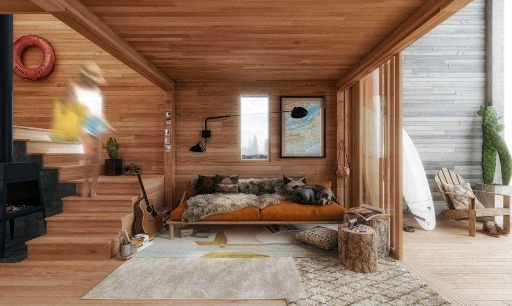 Affordable Flat Pack Surf Shack Shelter Operates Completely Off The Grid Cabane Surf Maison Et Petite Maison