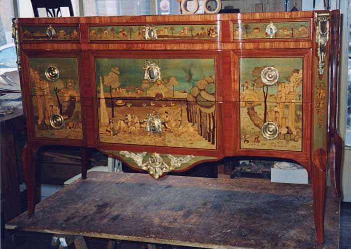 Commode poque transition louis xv louis xvi trois tiroirs dont 2 sous tra - Commode trois tiroirs ...
