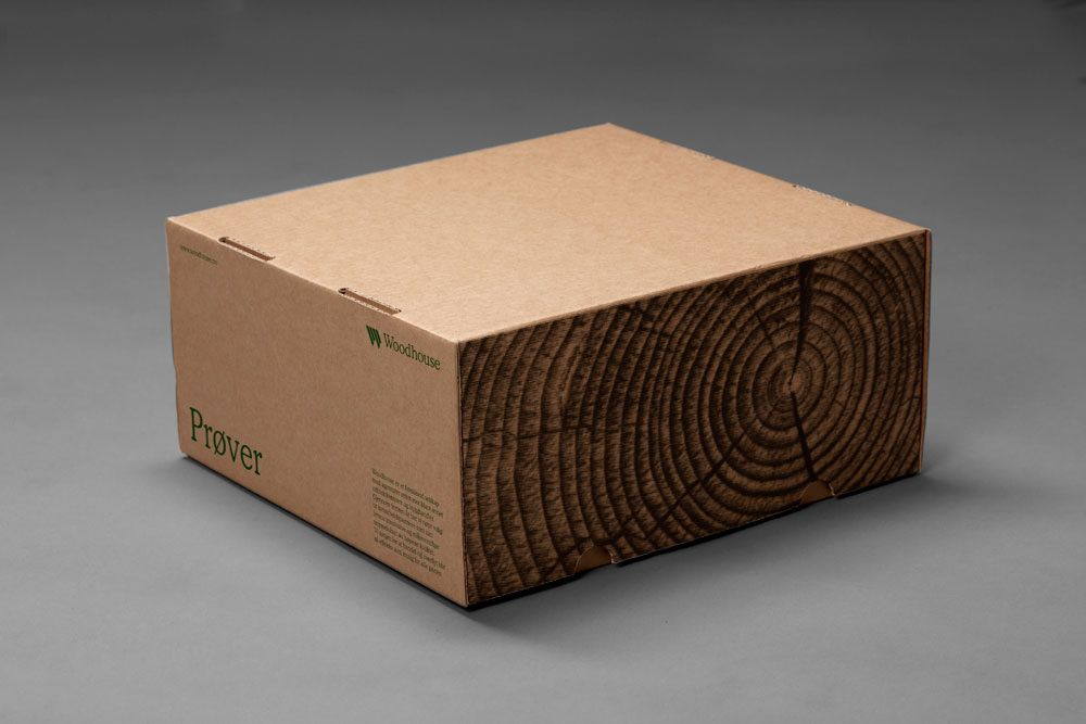 Package that looks like a block of wood