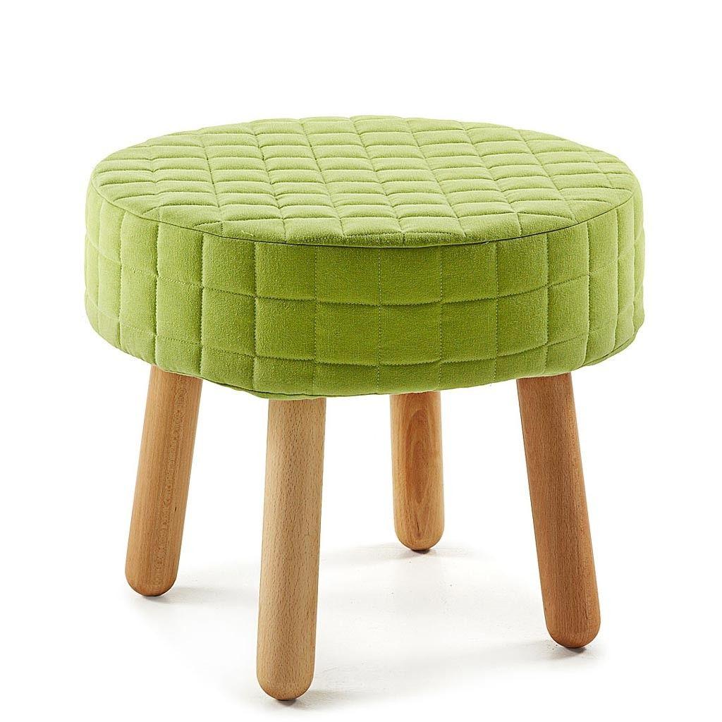 Taburete reposa pies con patas de madera y asiento tapizado desenfundable handy 50 ideal para - Banco para sentarse ...