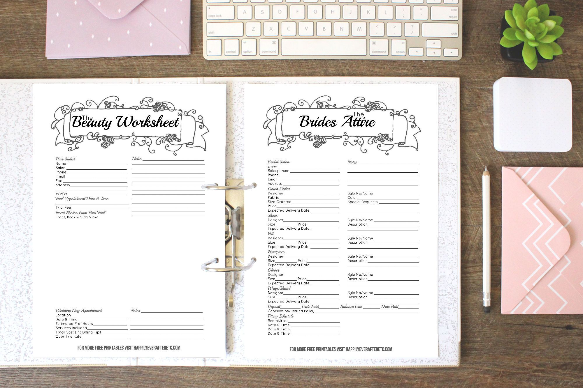 How To Put Together Your Perfect Free Wedding Binder