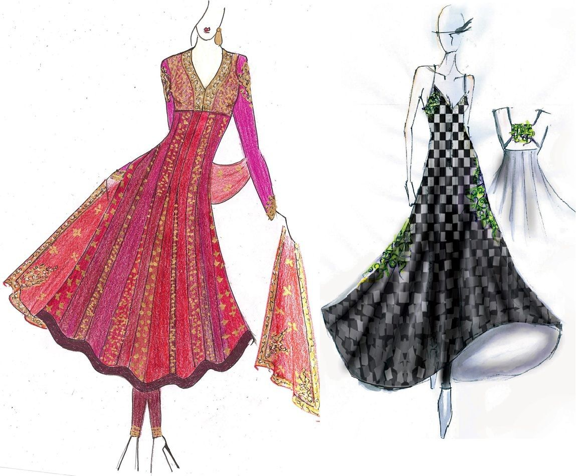Professional Fashion Designing Sketches Cdctp | illustrations ...