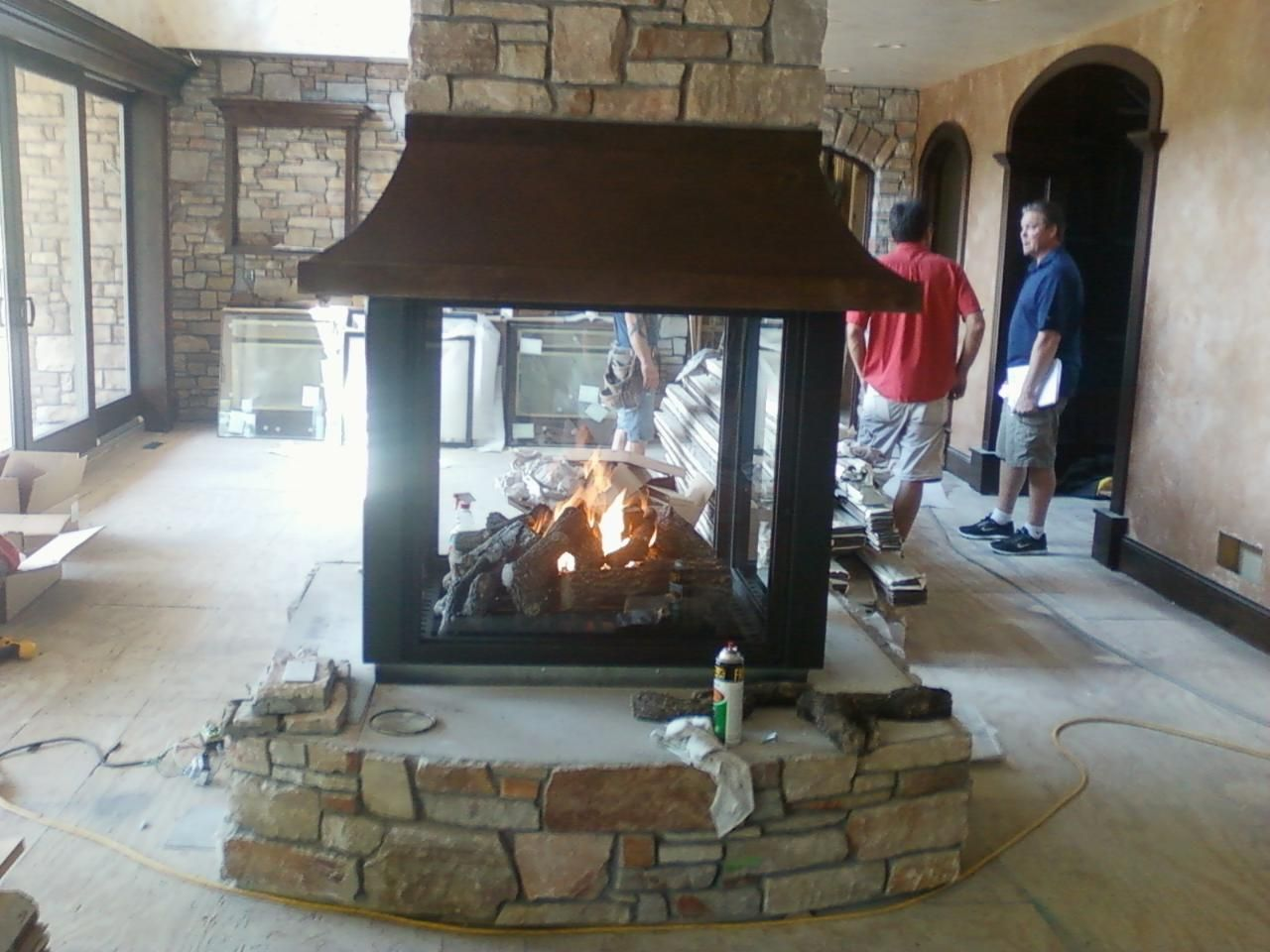 Custom 4 Sided Gas Fireplace Dream Home In 2019 Gas