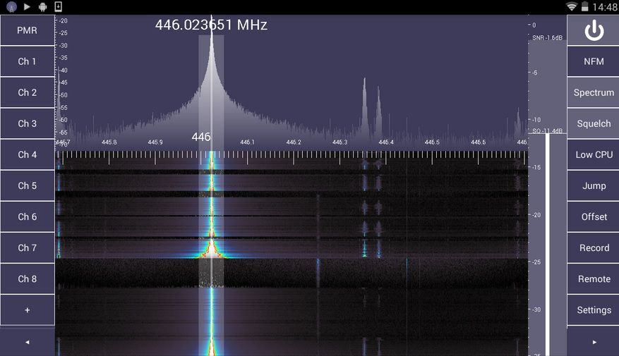 SDR Touch demo on Android device using SDRplay RSP | Amateur