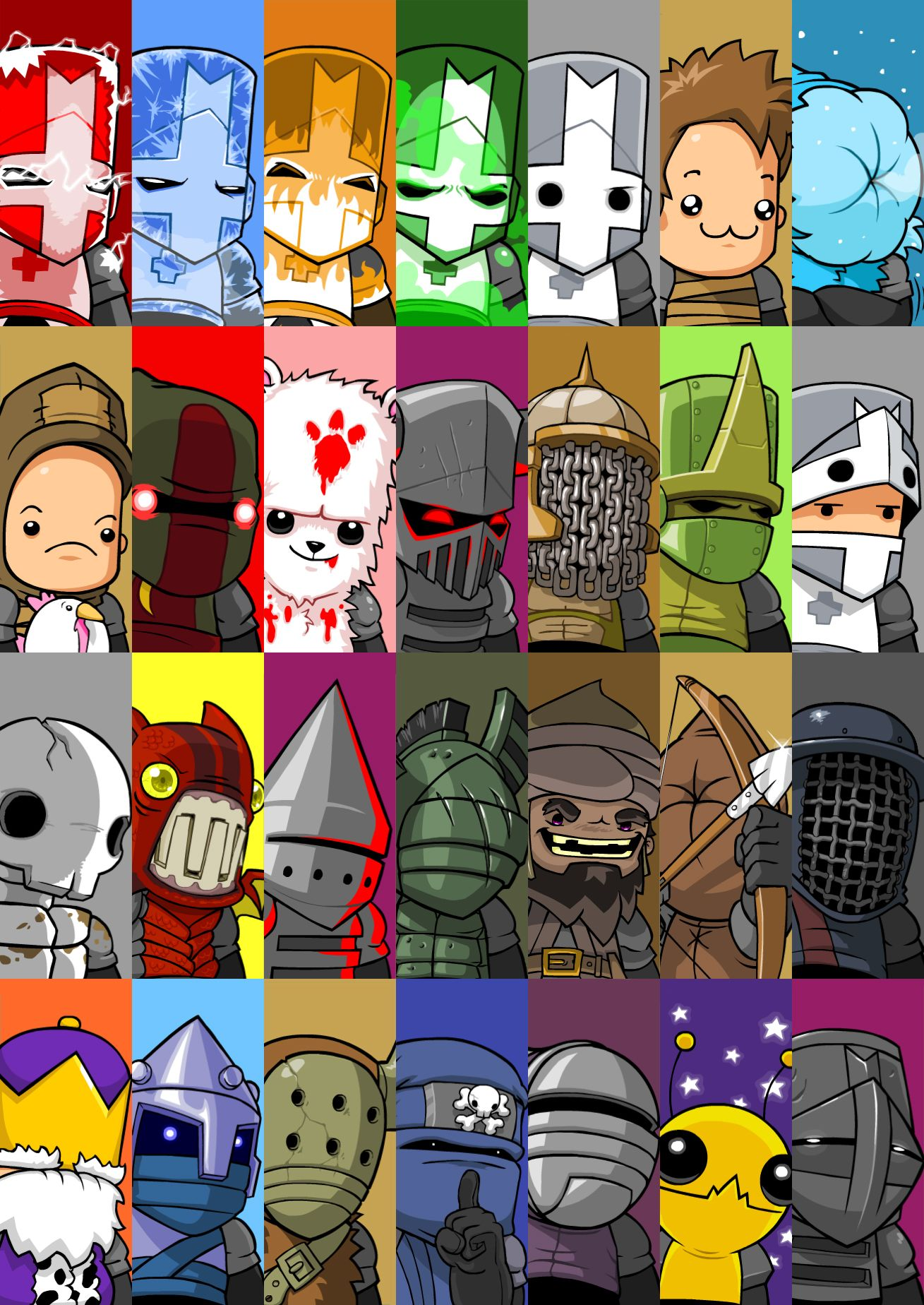 Castlecrashers Game Characters Castle Crashers Character Design Game Concept Art