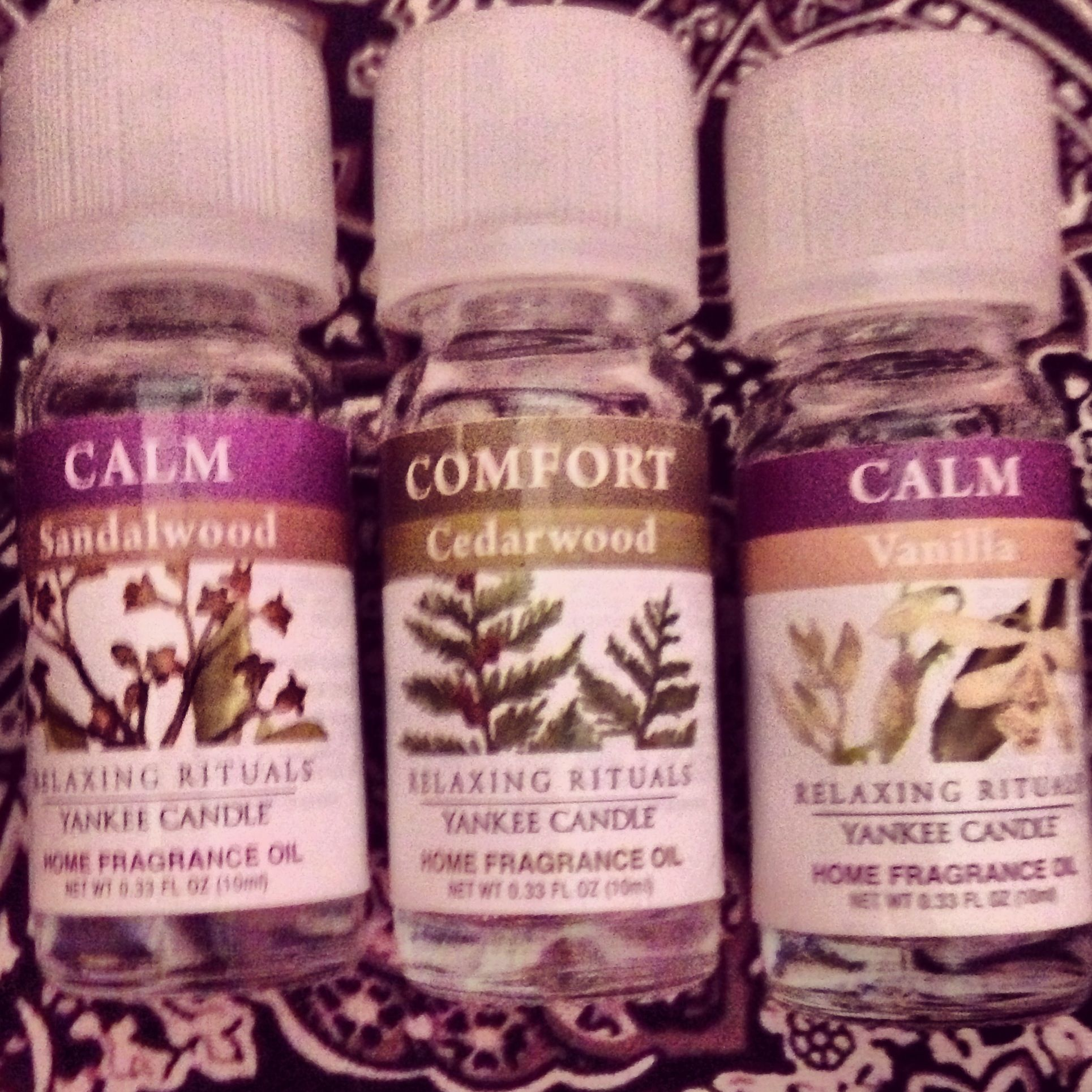 Use drops of each of these oils in an oil burner using a tea