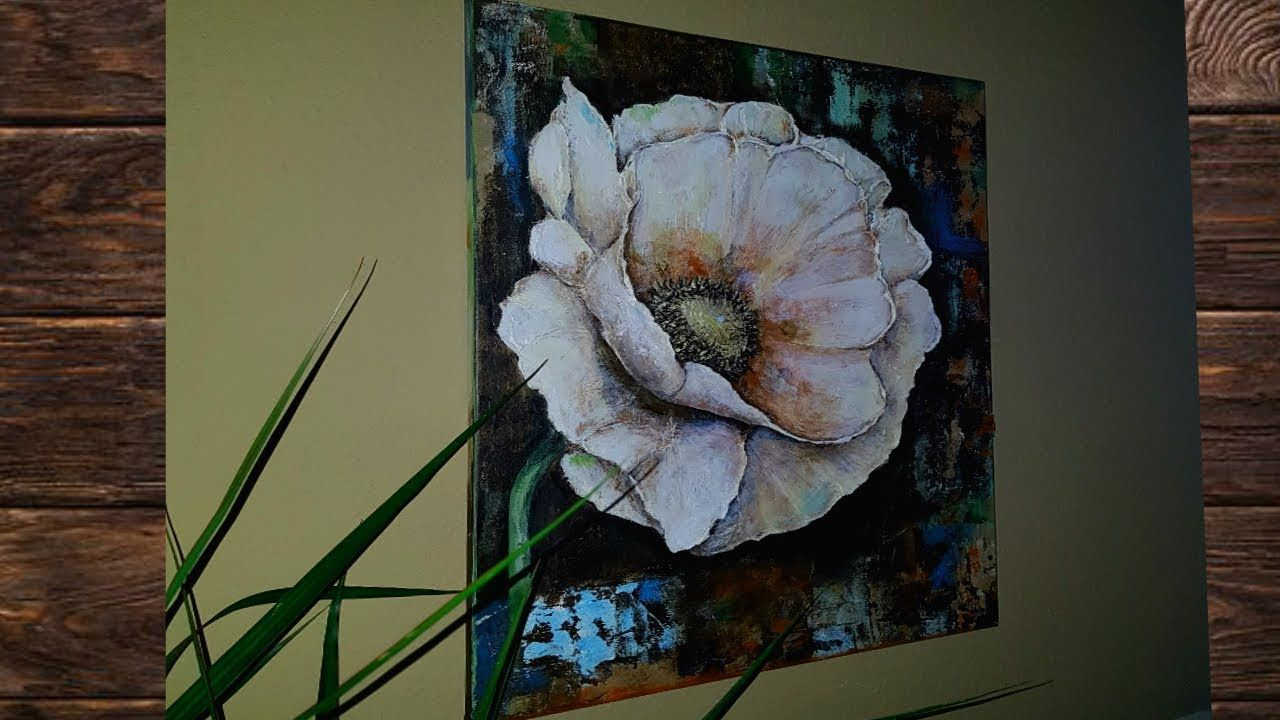 Flowers Acrylic Painting Techniques - YouTube   Flower ...
