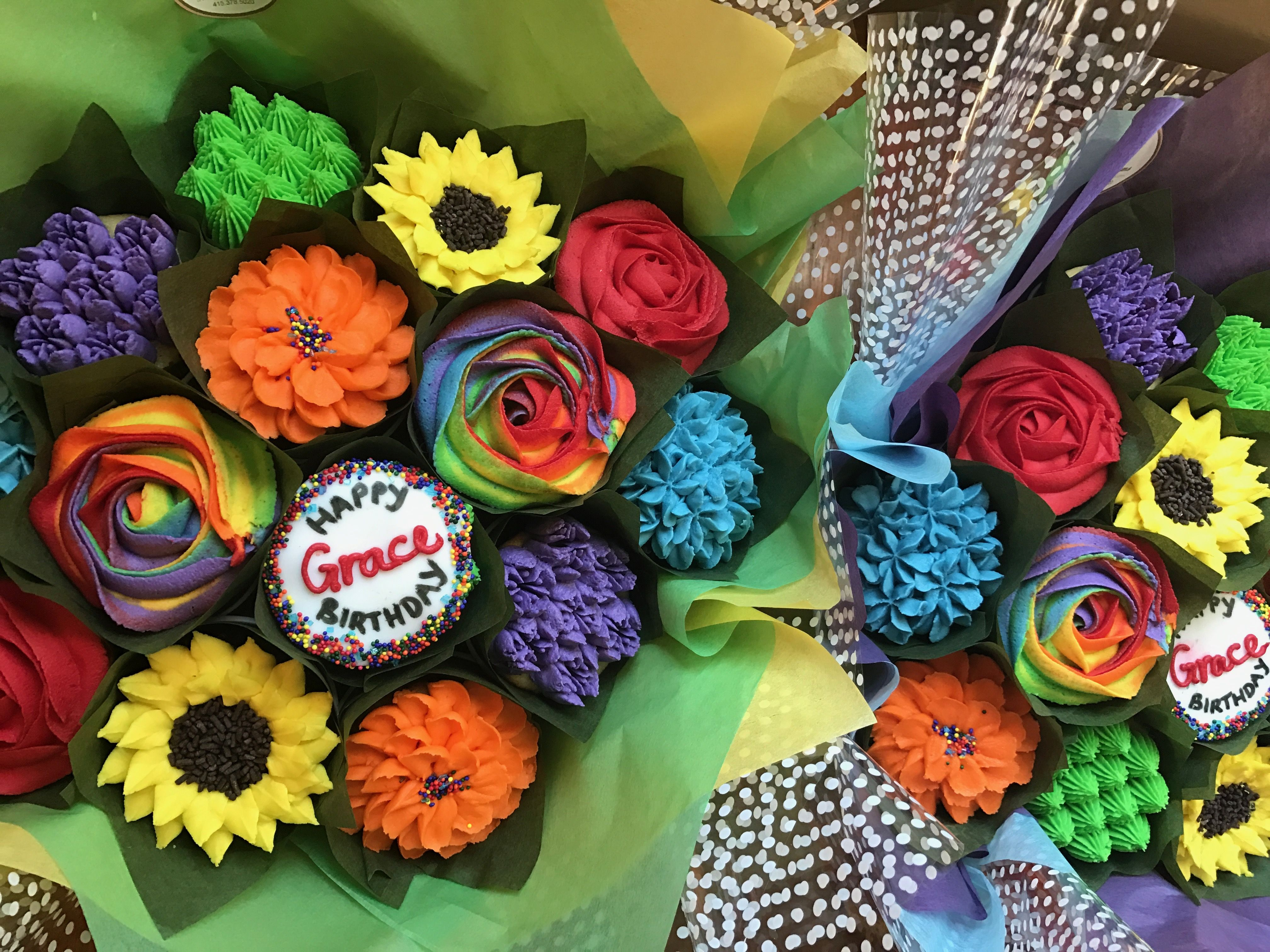 Happy Birthday Rainbow Bouquets 🌈 Www.bakedblooms.com