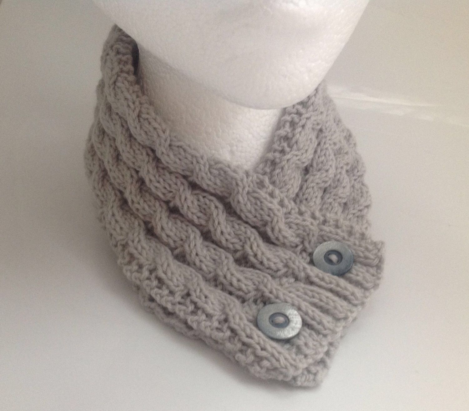 A personal favourite from my Etsy shop https://www.etsy.com/uk/listing/521529575/ladies-dove-grey-cable-stitch-neck