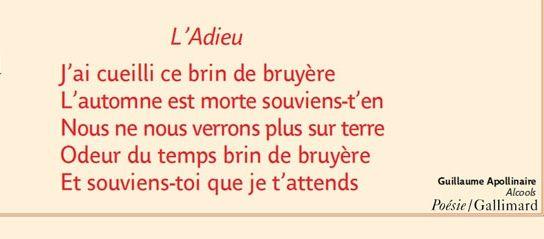 Poème De Guillaume Apollinaire Tiré Du Recueil Alcools