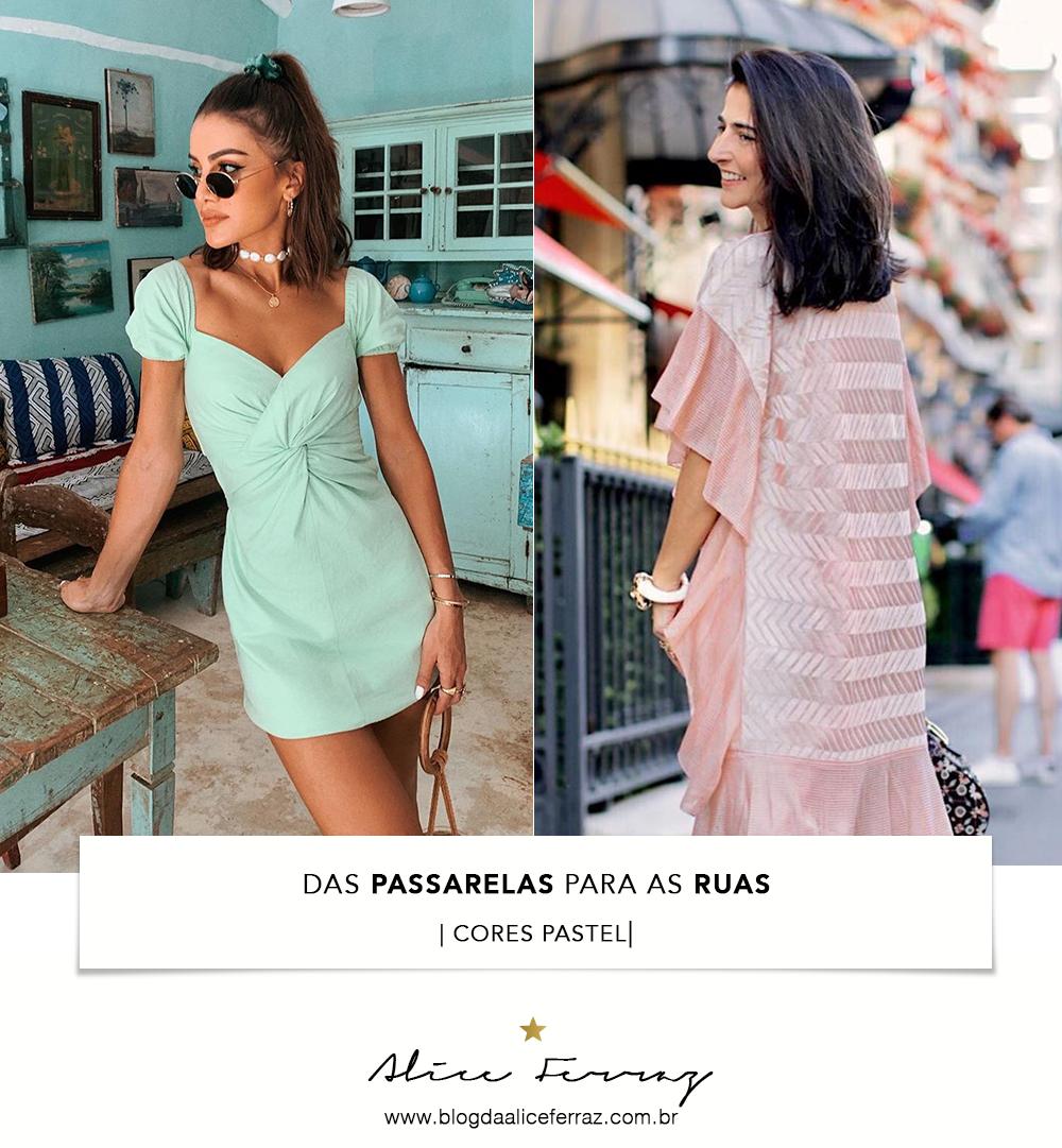From The Runway To Streetstyle Pastel Colors Passarela Miu Miu
