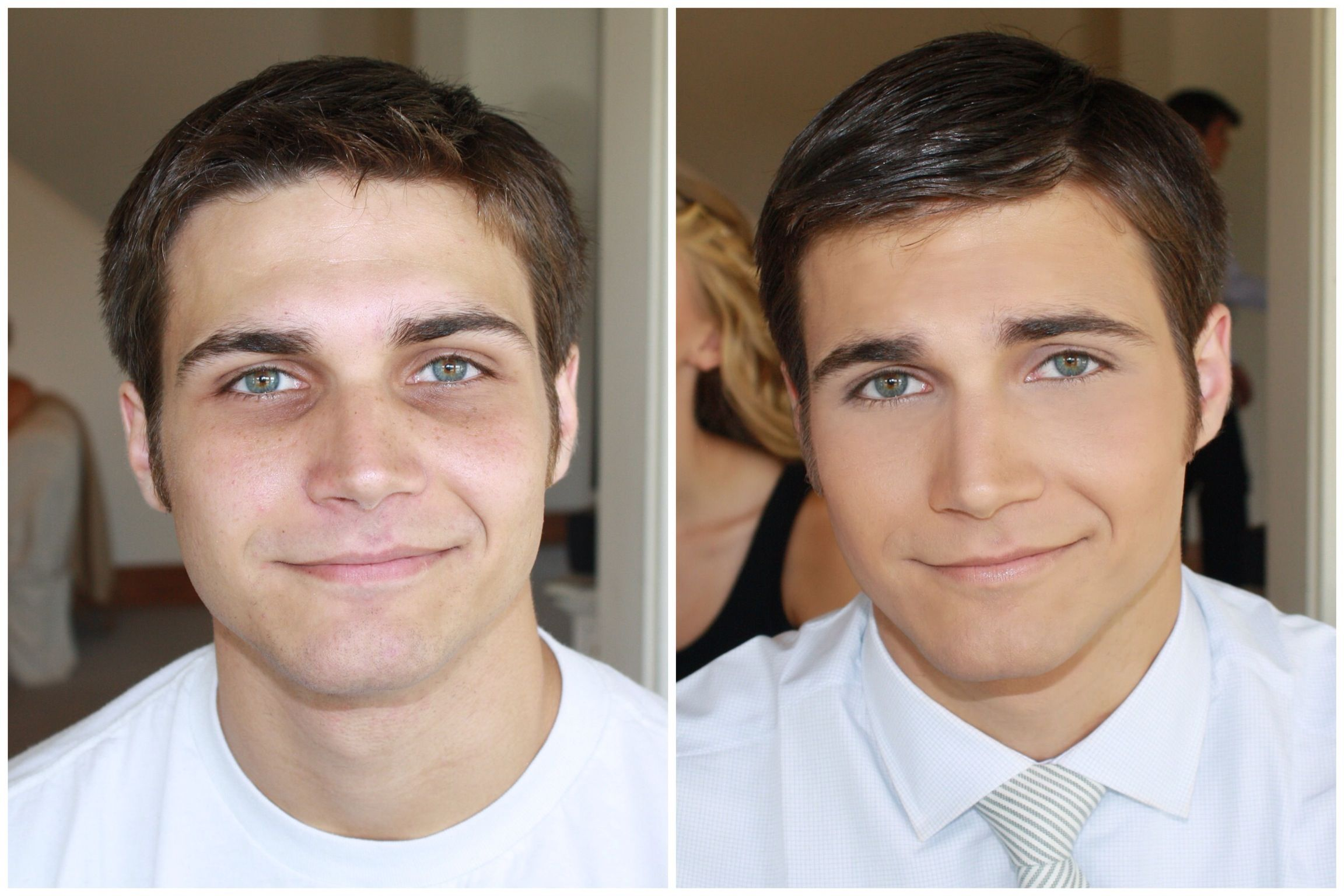 What a difference! Do you think makeup for men is