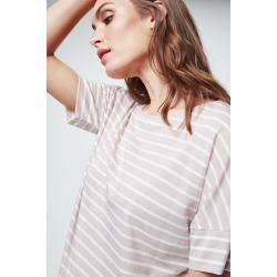 Photo of Striped shirt in nude white striped windsorwindsor