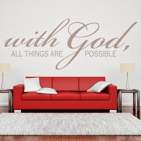 Wall Decals Quotes Interesting With God All Things  Wall Stickers Wall Decals  Destudioin  On