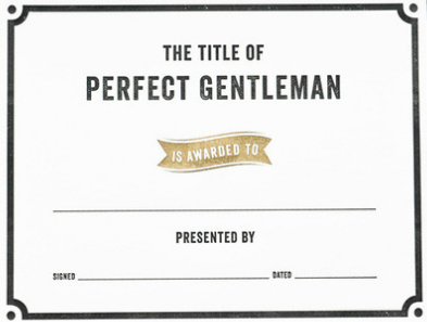 the title of perfect gentleman award school pinterest