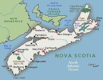 TRAVEL Nova Scotia Canadas Best Province Discuss Nova - Nova scotia map