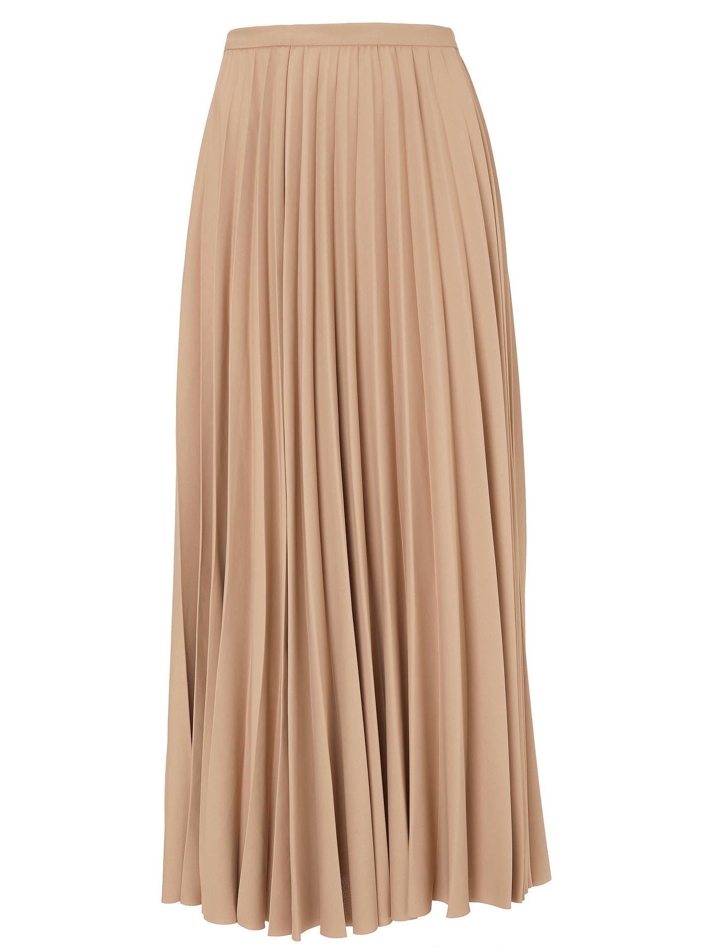 034a68788 BuyModern Rarity Sunray Pleated Midi Skirt, Camel, 18 Online at  johnlewis.com