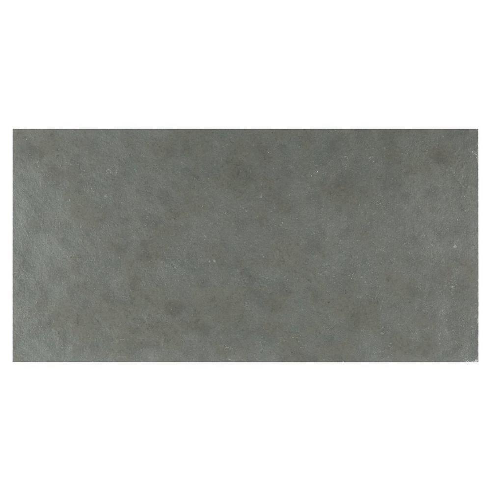Lake Blue Velvet Limestone Tile - 12in. x 24in. - 100185990 | Floor and Decor