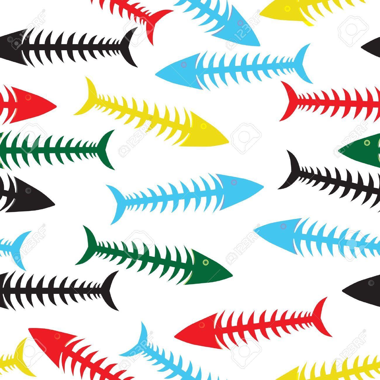 2018 年の「「魚 骨 イラスト」の画像検索結果   8d」   pinterest   魚