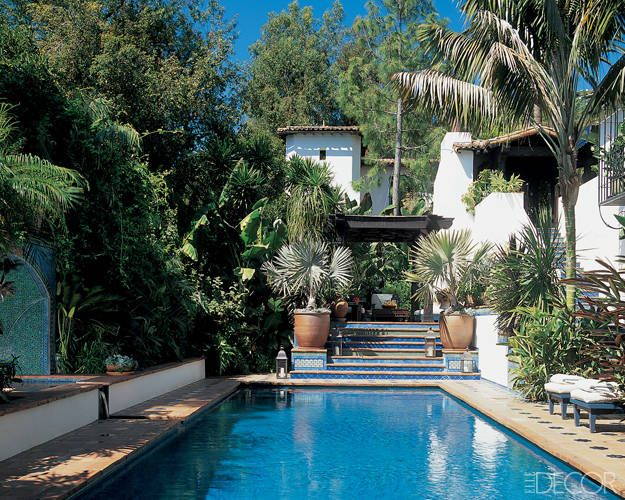 This Is How Celebrities Do Swimming Pools Celebrity Homes Pinterest Christine Taylor