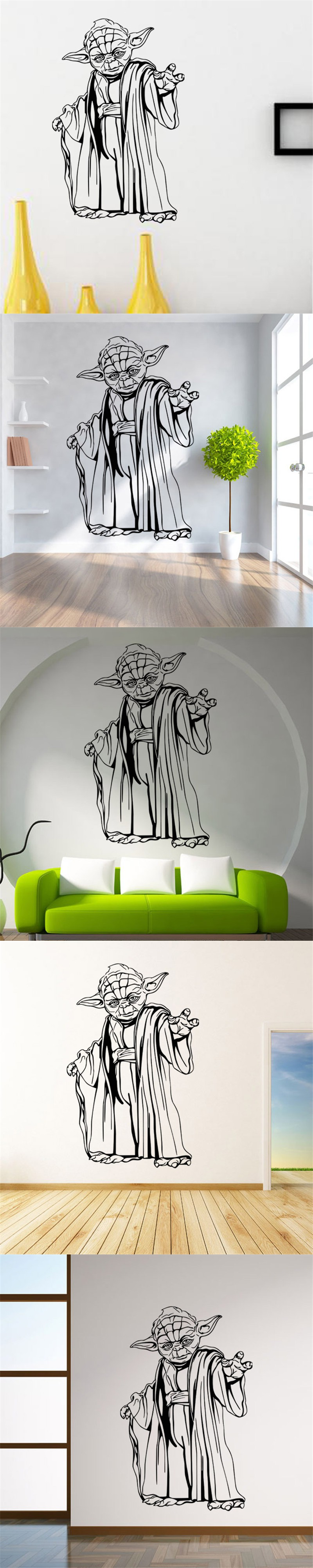 Yoda star wars art wall sticker poster star wars kids bedroom decor