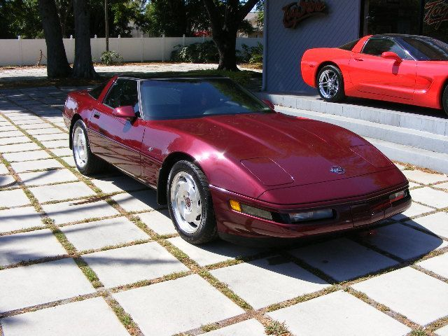 1993 Corvette Coupe 40th Anniversary Ruby Red W Ruby Red Leather Automatic Transmission Removable Roof Cheap Sports Cars Corvette C4 Chevrolet Corvette C4