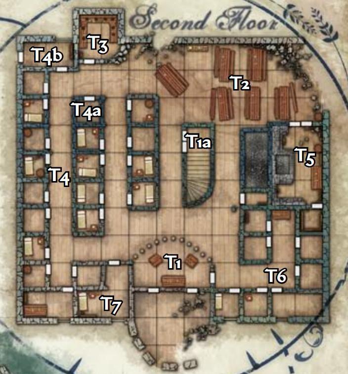 Harrowstone 2nd Floor Carrion Crown Tabletop Rpg Maps Fantasy