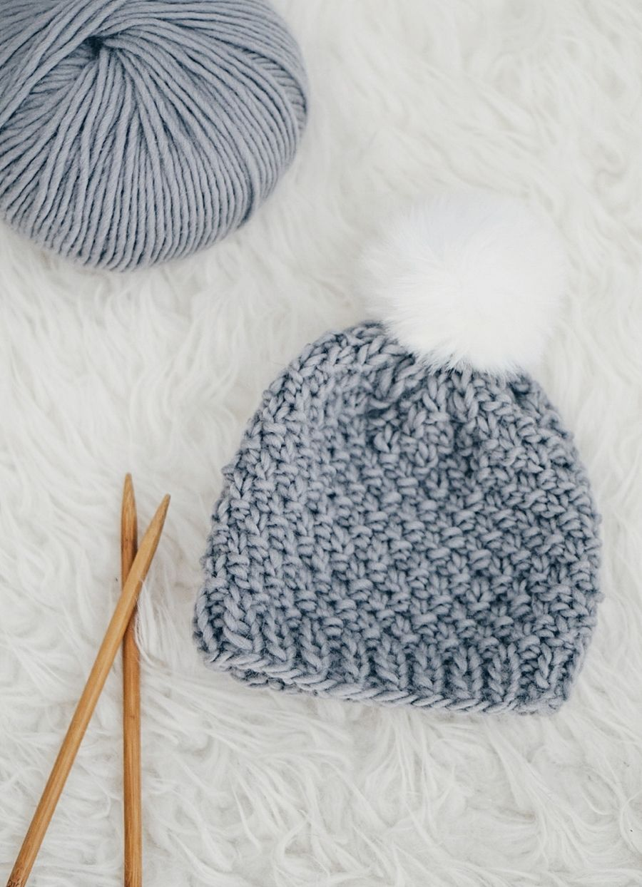 b841c64cefc Time for some knitting love! The moss stitch baby hat captures the all  natural beauty of Peruvian wool in its finest! A simple stitch repeating  pattern ...