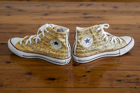 Custom Converse Shoes - Music | Custom converse shoes, Converse ...