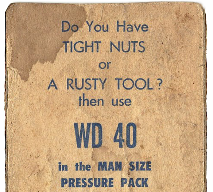 Sehr Gut WD 40 Vintage Advert   Funny!!   Pinterest HU97