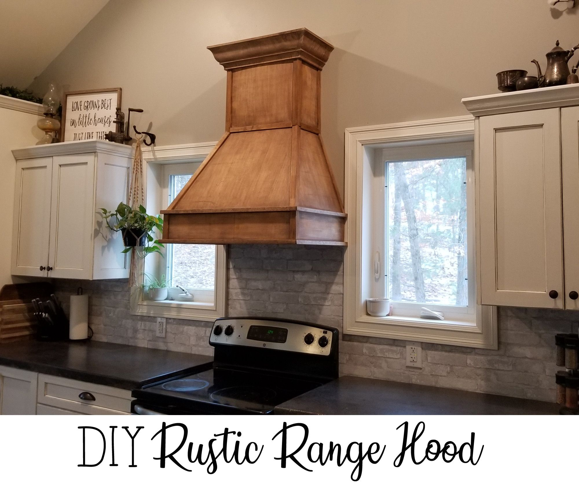 How To Diy Your Own Vent Hood Rustic Range Hood For Farmhouse