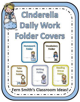 Back to School Cinderella Themed Daily Work Folder Covers for Elementary Teachers {paid} #BacktoSchool www.FernSmithsClassroomIdeas.com
