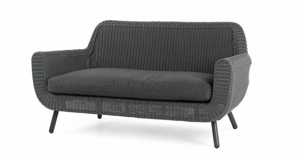 sofa rattan grau. Black Bedroom Furniture Sets. Home Design Ideas