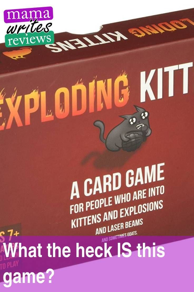 What The Heck Is This Game It S Called Exploding Kittens With Images Blog Love Exploding Kittens Family Fun