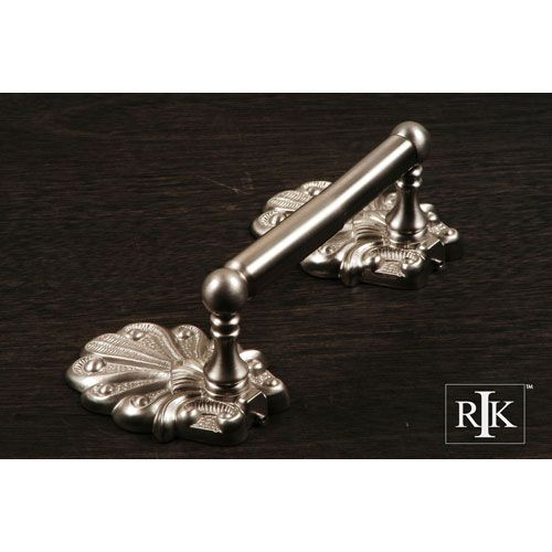 Pewter Two Post Peacock Base Tissue Paper Holder Paper Holders Toilet Paper Holders Bath