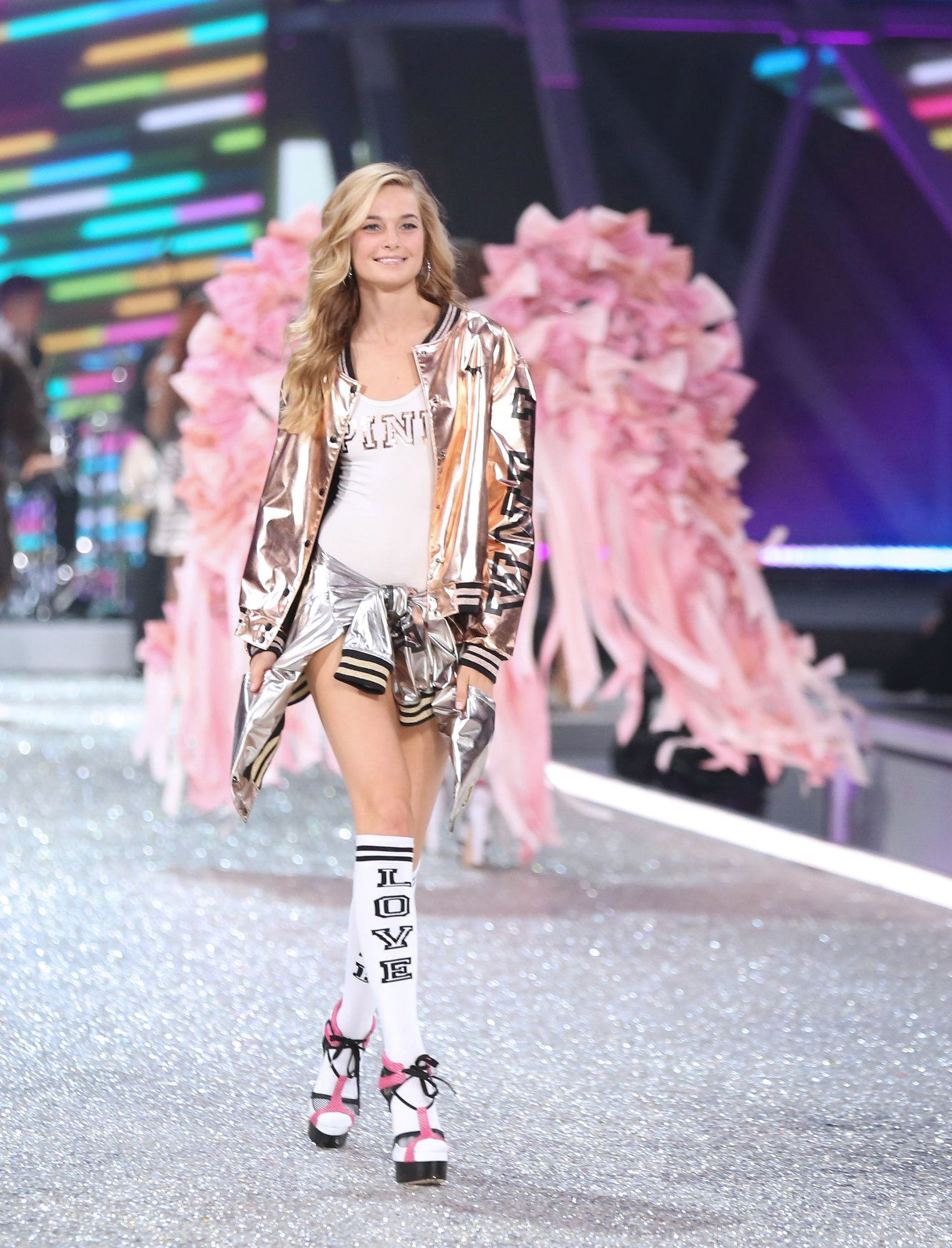 0f08aa8518 Bridget Malcolm at the Victoria s Secret Fashion Show. Multiple Victoria s  Secret models spoke out against body-shaming and diet culture in the fashion  ...