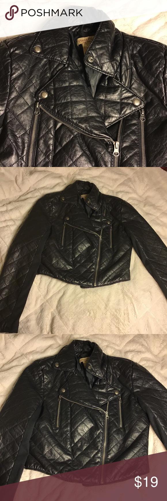 Paris Blues Faux Leather Jacket Black Leather Paris Blues Jacket Size M Paris Blues Jackets Black Faux Leather Jacket Faux Leather Jackets Black Coat Outfit [ 1740 x 580 Pixel ]