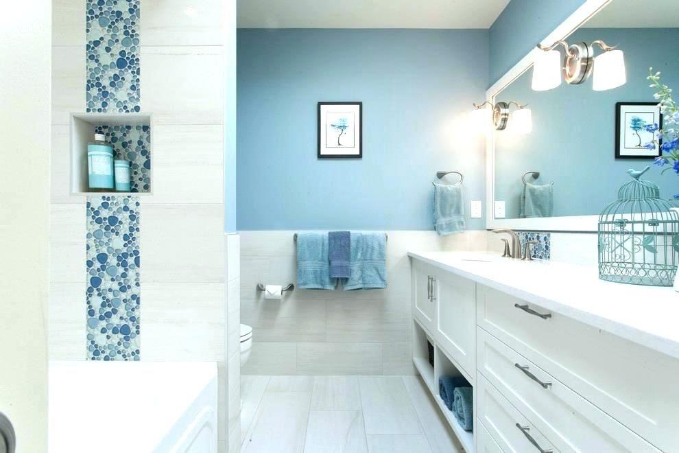Light Blue Tile Bathroom Ideas Light Blue Bathroom Transitional