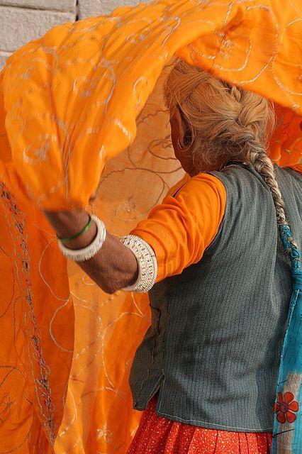 """gardenofthefareast: """" Dressing. Varanasi by entrelec on Flickr """""""