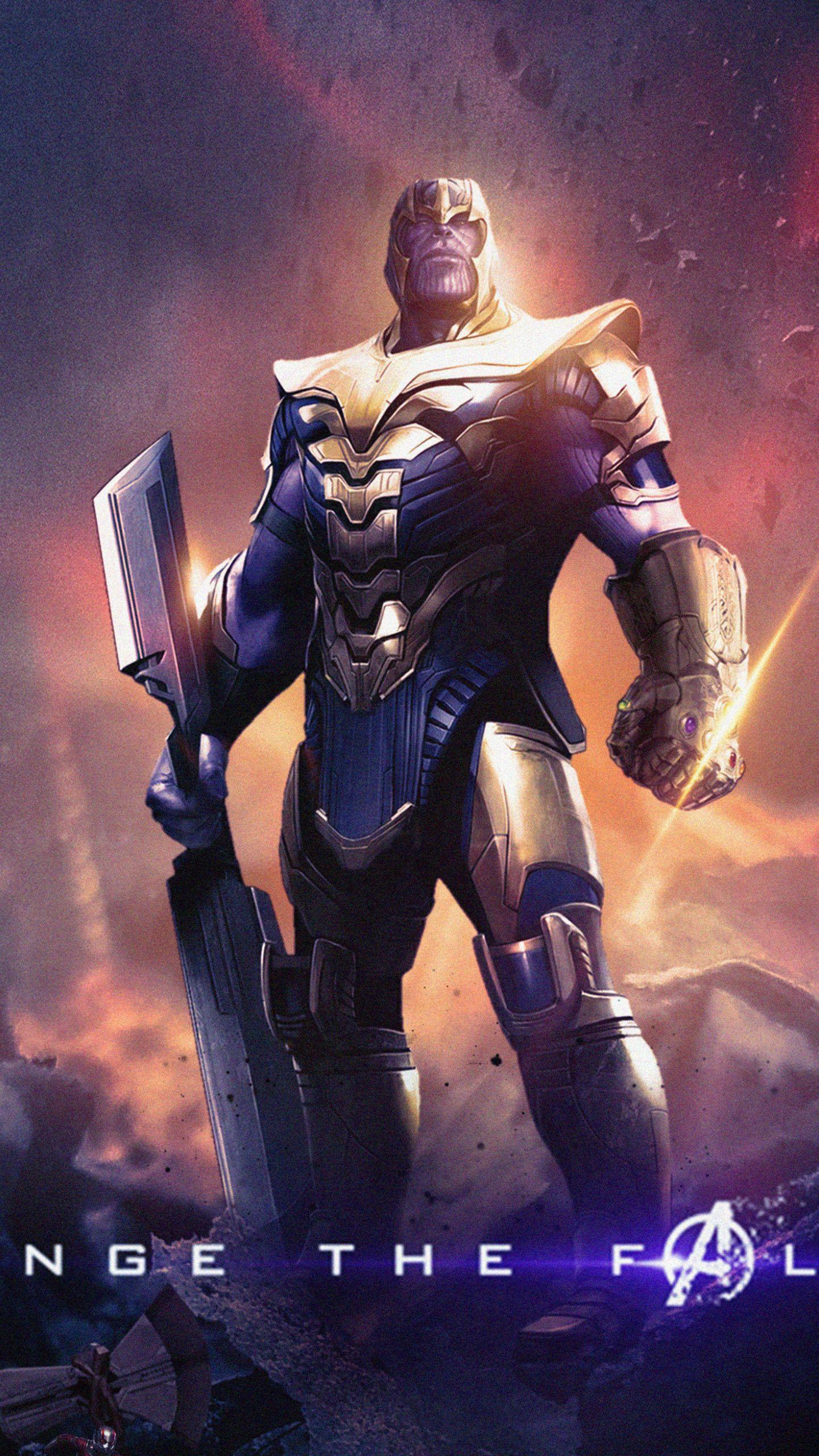 1440x2560 Thanos Avengers Endgame Villain Wallpaper Marvel Superhero Posters Marvel Villains Marvel Superheroes