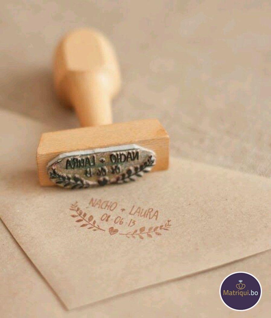 Personaliza tus invitaciones con tu propio sello. www.matriqui.bo
