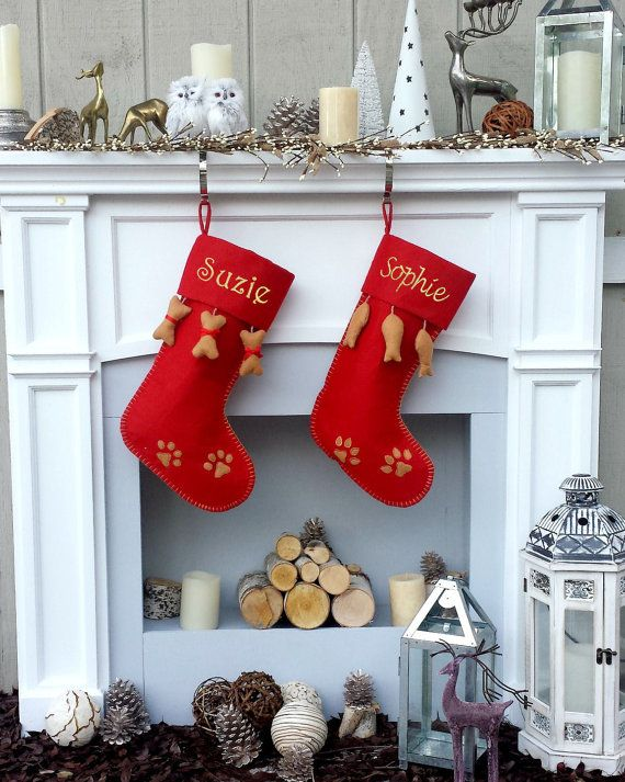 custom name Burlap Bone Pet Stocking,christmas stocking for dog,cat christmas stocking,Fish stocking Dog Christmas Stockings Personalized