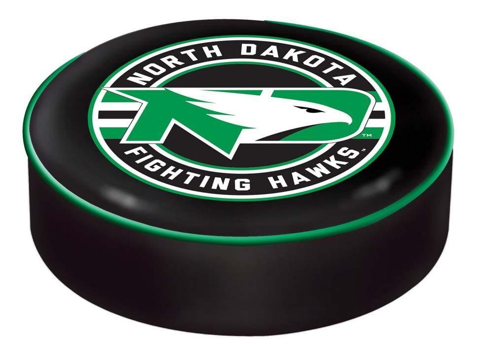 North Dakota Fighting Hawks Black SlipOn Bar Stool Seat